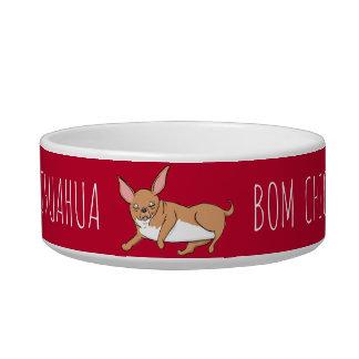 Funny Bom Chicka Chihuahua Pet Food Bowl
