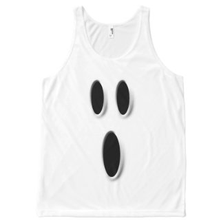 Funny Boo Ghost Face Halloween Costume All-Over Print Singlet