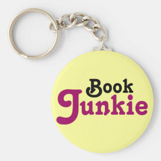 Funny Book Junkie Reading Gift Key Ring