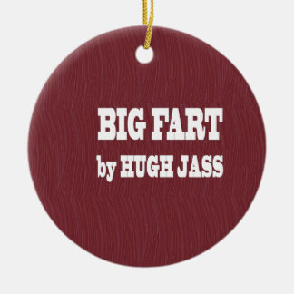 FUNNY BOOK NAMES : Pronounce Loud  LOWPRICE GIFTS Round Ceramic Decoration