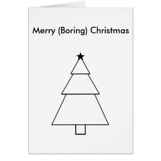 Funny Boring Christmas Card