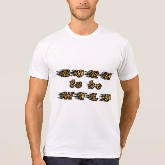 Funny Born to be Wild Leopard Wildlife Typography T-Shirt