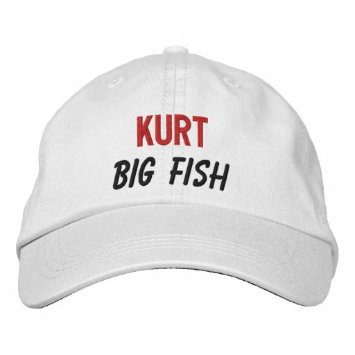 FUNNY Boss Big Fish Custom Name V03 Baseball Cap