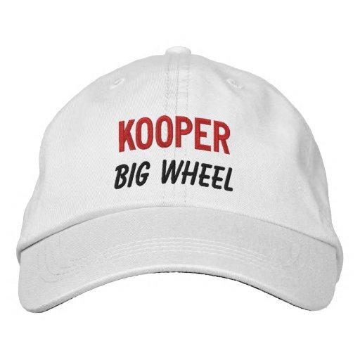 FUNNY Boss Big Wheel Custom Name V08 Embroidered Baseball Cap