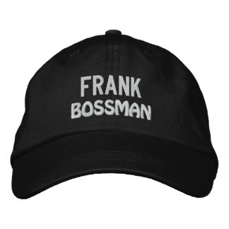 Funny BOSS Bossman Hat with Custom Name V17 Embroidered Hat