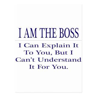 Funny Boss .. Explain Not Understand Postcard