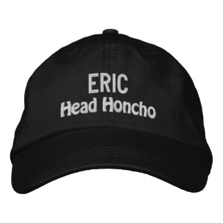 Funny BOSS Head Honcho Hat with Custom Name V16 Embroidered Hats