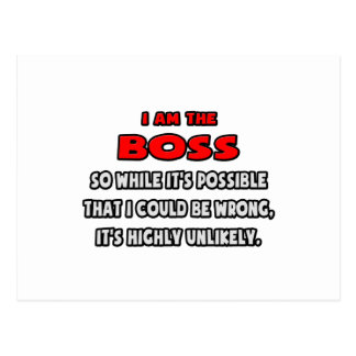 Funny Boss .. Highly Unlikely Postcards
