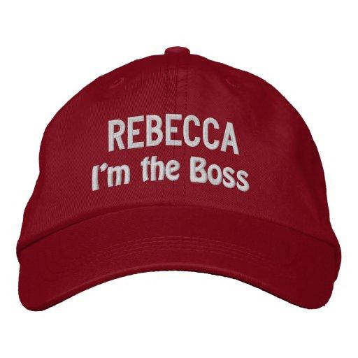 Funny BOSS I'm the Boss Hat with Custom Name V14D Baseball Cap