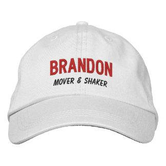 FUNNY Boss Mover and Shaker Custom Name V10 Embroidered Baseball Cap