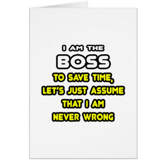 Funny Boss T-Shirts and Gifts Greeting Card