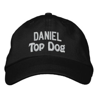 Funny BOSS Top Dog Hat with Custom Name V14 Embroidered Hat