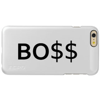 Funny BOSS Typography with dollars