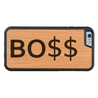 Funny BOSS Typography with dollars Carved Cherry iPhone 6 Bumper Case