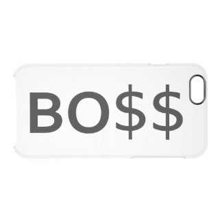 Funny BOSS Typography with dollars Uncommon Clearly™ Deflector iPhone 6 Case