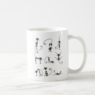 Funny both fronts French poses cats Mug