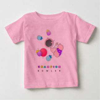 Funny Bowling Baby T Shirt