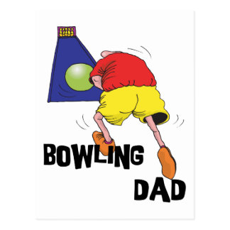 Funny Bowling Dad Father's Day Postcards