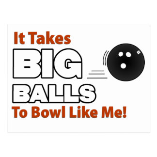 Funny Bowling Postcard