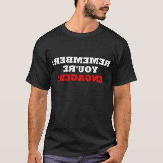 Funny Boyfriend Engagement Bachelor Party Fiance T-Shirt