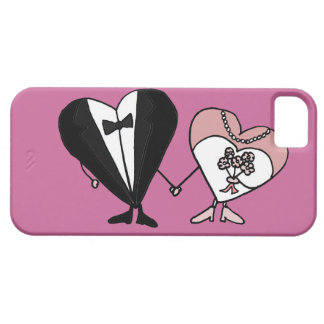 Funny Bride and Groom Hearts Art iPhone 5 Covers