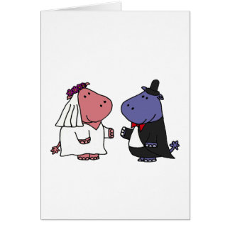 Funny Bride and Groom Wedding Cartoon Greeting Cards