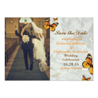 funny bride kidnapping/butterfly 13 cm x 18 cm invitation card