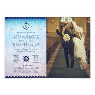 funny bride kidnapping/nautic 13 cm x 18 cm invitation card
