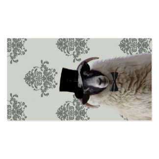 Funny bridegroom sheep in top hat business card template