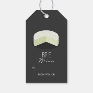 Funny Brie Mine Valentine Love Cheese Gift Tags