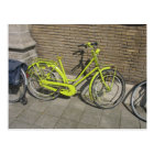 Funny Bright Yellow Bicycle Postcard
