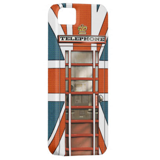 Funny British Flag Classic Phonebox iPhone 5 Cases