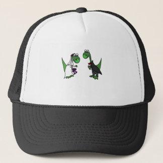Funny Brontosaurus Wedding Art Trucker Hat