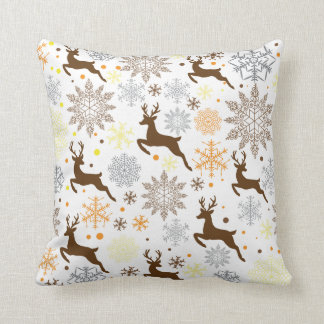 Funny Brown Christmas Pattern Cushion