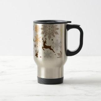 Funny Brown Christmas Pattern Travel Mug