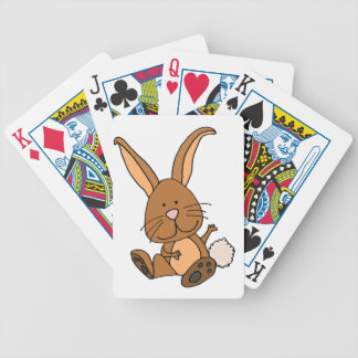Funny Brown Rabbit Cartoon Bicycle Playing Cards