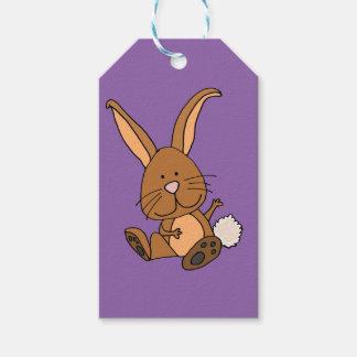 Funny Brown Rabbit Cartoon Gift Tags
