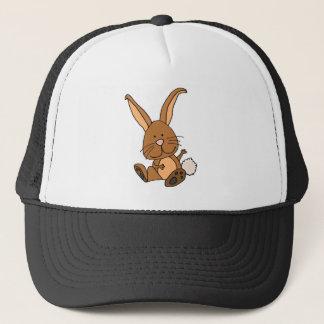 Funny Brown Rabbit Cartoon Trucker Hat