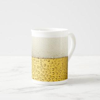Funny Bubbles Beer Glass Gold Bone China Mug