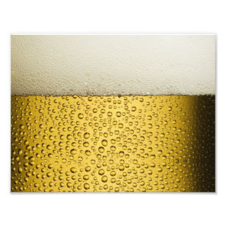 Funny Bubbles Beer Glass Gold Photo Print