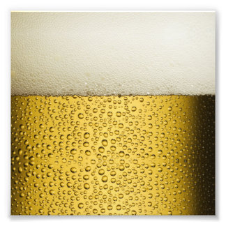 Funny Bubbles Beer Glass Gold Photo