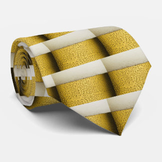 Funny Bubbles Beer Glass Gold Tie