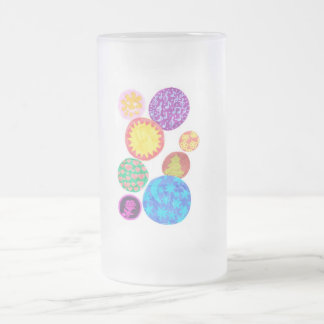 funny bubbles frosted glass beer mug