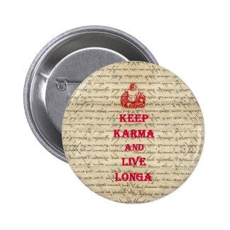 Funny Buddha saying Pinback Buttons