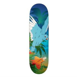 Funny budgies skate deck