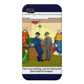 Funny Bugged Police HQ Gifts Mugs Etc. Cases For iPhone 4