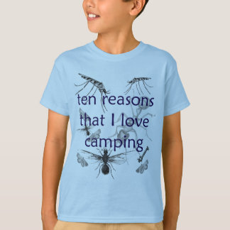 Funny Bugs Love Camping Kids T-shirt