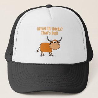 Funny Bull Stock Market Cartoon Art Trucker Hat