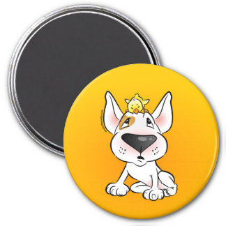 Funny Bull Terrier Cartoon Fridge Magnet