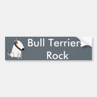 Funny Bull Terrier Dog Art Bumper Sticker